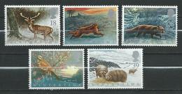 Great Britain 1992 Animals In Winter.Mammals.Deer.Hares.Foxes.Birds.Robins.Sheep.MNH - 1952-.... (Elizabeth II)