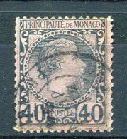 2220  - MONACO  N°7 ° 40c  Bleu Sur Rose   Prince  Charles   III     TB - Monaco