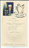 Allemagne - Donaueschingen - Menu - Brasserie Bière Furstenberg - Vignette - Dessin -Réf . 11- - Menus
