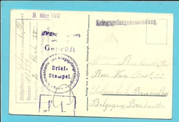 Kaart (Katholische Kirche) Van Sennelager Bei Paderborn Met Stempel GEPRUFT, Naar SCHAERBEEK