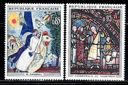 "France   ""Art""    Set   SC# 1076-77   MNH - France"