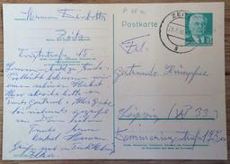 DDR 1960, Postkarte P 68 A Wilhelm Pieck, Zeitz --> Leipzig (o) - Postkaarten - Gebruikt