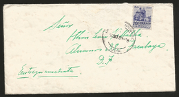 J) 1953 MEXICO, COLONIAL ARCHITECTURE OF PUEBLA, COMPLETE LETTER IN GREEN, AIRMAIL, CIRCULATED COVER, INTERIOR MAIL WITH - Mexico
