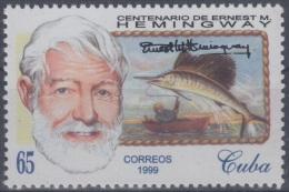 1999.7- * CUBA 1999. MNH. ERNEST HEMINGWAY. MARLING FISHING. PERCA DE LA AGUJA. PECES. FISH. - Cuba