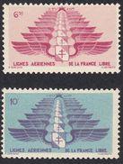 FRANCE Francia Frankreich (colonie) - 1942 - Levant - Yvert Aerea 5 E 6, Nuovi Con Traccia Di Linguella - Levant (1885-1946)