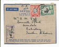 Somaliland Camel Corps, Burao  (m/s) Air Letter 1942, E.A. A.P.O. 71 (Berbera, Somaliland), Censor II / 10 > S. Rhodesia - Kenya, Uganda & Tanganyika