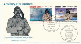 DJIBOUTI => 2 FDC - 75eme Anniversaire Traversée De La Manche Par BLERIOT - Juillet 1984 - Yibuti (1977-...)