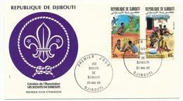 DJIBOUTI => FDC - Les Scouts De Djibouti - Mai 1985 - Yibuti (1977-...)