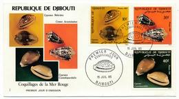 DJIBOUTI => 2 FDC - Coquillages - Juillet 1985 - Djibouti (1977-...)