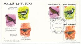 WALLIS ET FUTUNA => 2 FDC - OISEAUX - 28 Oct 1987 - FDC