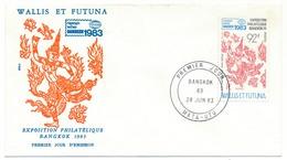 WALLIS ET FUTUNA => FDC - Exposition Philatélique BANGKOK - 1983 - FDC