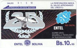 BOLIVIA A-044 Optical Entel - Anniversary, Communication Company - Used
