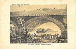 Vue De La Bastide Près Bordeaux - Ancienne Guyenne - Illustration (gravure) - Carte Dos Simple - Bordeaux