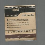 G-I-E , Tabac , Boite, Pochette D'ALLUMETTES, 2 Scans, Publicité, TEC PHOT , Photographies , Paris , 5 Rue St Bon - Matchbox Labels