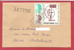 Y&T N°2551 ROCHEFORT   Vers    CHATELLERAULT 1988 - 1961-....