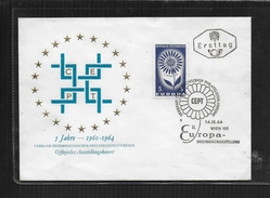 AUTRICHE 1964 EUROPA FDC BRIEFMARKENAUSSTELLUNG WIEN - 1945-.... 2nd Republic