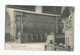 Cp, 51 , HAUTVILLERS , L'intérieur De L'église , Les Stalles , Voyagée 1918 , F.M. - France