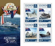 SOLOMON ISLANDS 2014 SHEET AUSTRALIAN SHIPS BARCOS BOATS BATEAUX BARCHE Slm14601a - Salomon (Iles 1978-...)