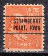USA Precancel Vorausentwertung Preos Locals Iowa, Strawberry Point 736