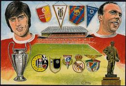 A5782 MANCHESTER UNITED FOOTBALL CLUB, European Champions Cup Post Card - Calcio
