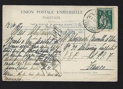 """Postcard WWI War To Portuguese SOLDIER, On """"n.32 STATIONARY HOSPITAL"""" C.E.P. FRANCE 1917 Censor Cancel - Poststempel (Marcophilie)"""