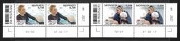 Monaco 2017 - Yv N° 3078 & 3079 ** - 5 ANS DE LA FONDATION PRINCESSE CHARLENE DE MONACO (3335 & 3336) - Monaco