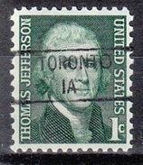 USA Precancel Vorausentwertung Preos Locals Iowa, Toronto 841