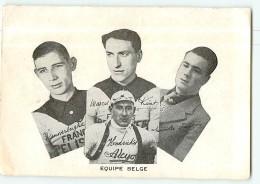 Equipe Belge : VANVERBERGHE , KINT , HENDRICKS , NOVILLE  - 2 Scans - Cycling