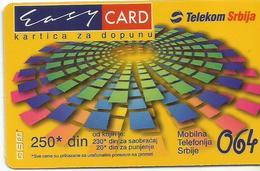 Yugoslavia Serbia GSM Prepaid Recharge Card Used - Yougoslavie