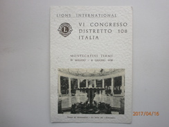 Postcard Lions Club International Congress Montecatini Terme Tuscany 1958 Nice Stamps & Cancel  My Ref B21054 - Events
