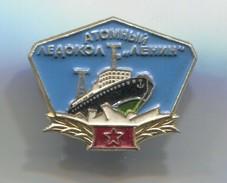 Ship / Schiff / Boat - Icebreaker Atomic LENIN, USSR / Russia, Vintage Pin, Badge, Abzeichen - Bateaux