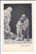 16603 - Bonne Année Couple  Enfants Lutins Trèfle à Quatre Neige - Nouvel An