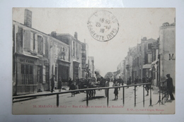 17 : Marans - Rue D'Aligre Et Route De La Rochelle ( Café ) - Autres Communes