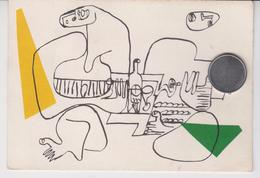 LE CORBUSIER  / LES MUSICIENNES / Belle Prose De JACQUES  LEHERISSEY Au Verso  ( De CAUTERETS) - Peintures & Tableaux
