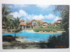 Postcard Dusit Laguna Resort Hotel Phuket Thailand Postally Used 1997 With Singapore Stamp & Cancel My Ref B21055 - Thailand
