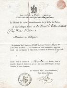 Mai 1809 - VILLERS-COTTERETS (02) - Notification De Décès En Exécution Du Code NAPOLÉON - - Historical Documents