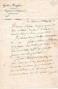 Janvier 1826 - ROUEN - GARDE ROYALE - 2° Régiment D'Infanterie - Commande De Feuilles De Mutation Etc. - Documents Historiques