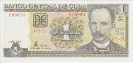 Cuba 1 Pesos 2004 Pick 121 UNC - Cuba