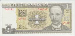 Cuba 1 Pesos 2007 Pick 121 UNC - Cuba