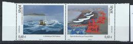 St Pierre Et Miquelon N° 1053/54** (MNH) 2012 - Peintures Officiels De La Marine - St.Pierre Et Miquelon