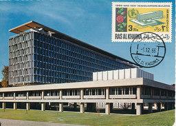 D29717 CARTE MAXIMUM CARD 1966 RAS AL KHAIMA - WHO HEADQUARTERS GENÈVE CP ORIGINAL - Vereine & Verbände
