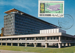 D29718 CARTE MAXIMUM CARD 1966 RAS AL KHAIMA - WHO HEADQUARTERS GENÈVE CP ORIGINAL - Organizzazioni