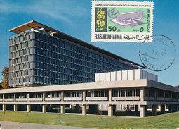 D29718 CARTE MAXIMUM CARD 1966 RAS AL KHAIMA - WHO HEADQUARTERS GENÈVE CP ORIGINAL - Vereine & Verbände