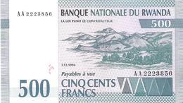 Rwanda - Pick 23a - 500 Francs 1994 - Unc - Ruanda