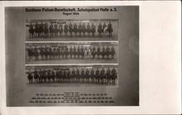 ! Alte Fotokarte Halle, Berittene Schutzpolizei Bereitschaft, 1924, Pferde - Halle (Saale)