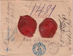 Russia Postal History .  Money Letter 1 Ruble . Small Village  BOGOYAVLENSK Tambov Province . Population 740 People - 1857-1916 Imperium