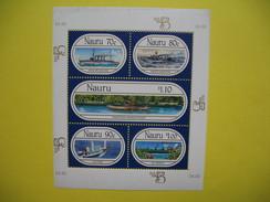 Nauru Ships Sheetlet MNH World Stamp Exp Australia 1999, Bloc Feuillet  Neuf**  à Voir - Nauru
