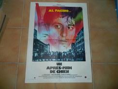 AFFICHE DE CINEMA UN APRES MIDI DE CHIEN AVEC AL PACINO DE LA WARNER BROS COMPANY - Plakate