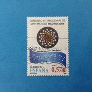 2006 SPAGNA ESPANA FRANCOBOLLO USATO STAMP USED - Congresso Internazionale Della Matematica - 2001-10 Oblitérés