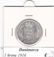 DANIMARCA   1  KRONE  1916  COME DA FOTO - Danimarca